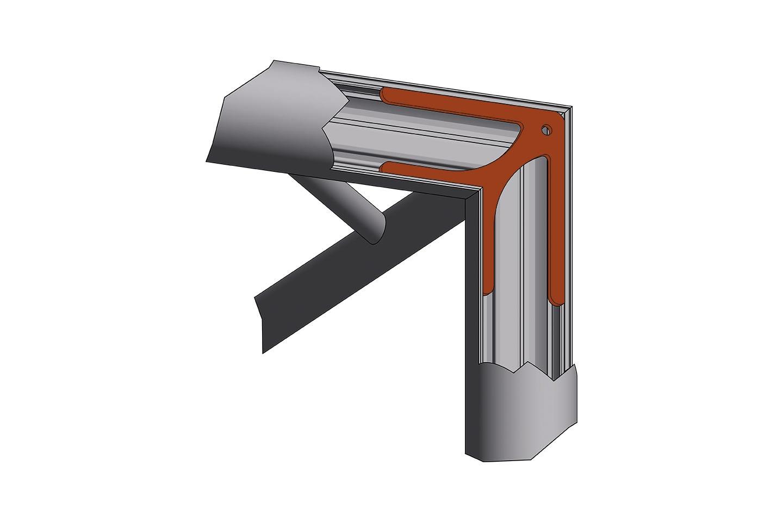 robust-corner steel reinforced