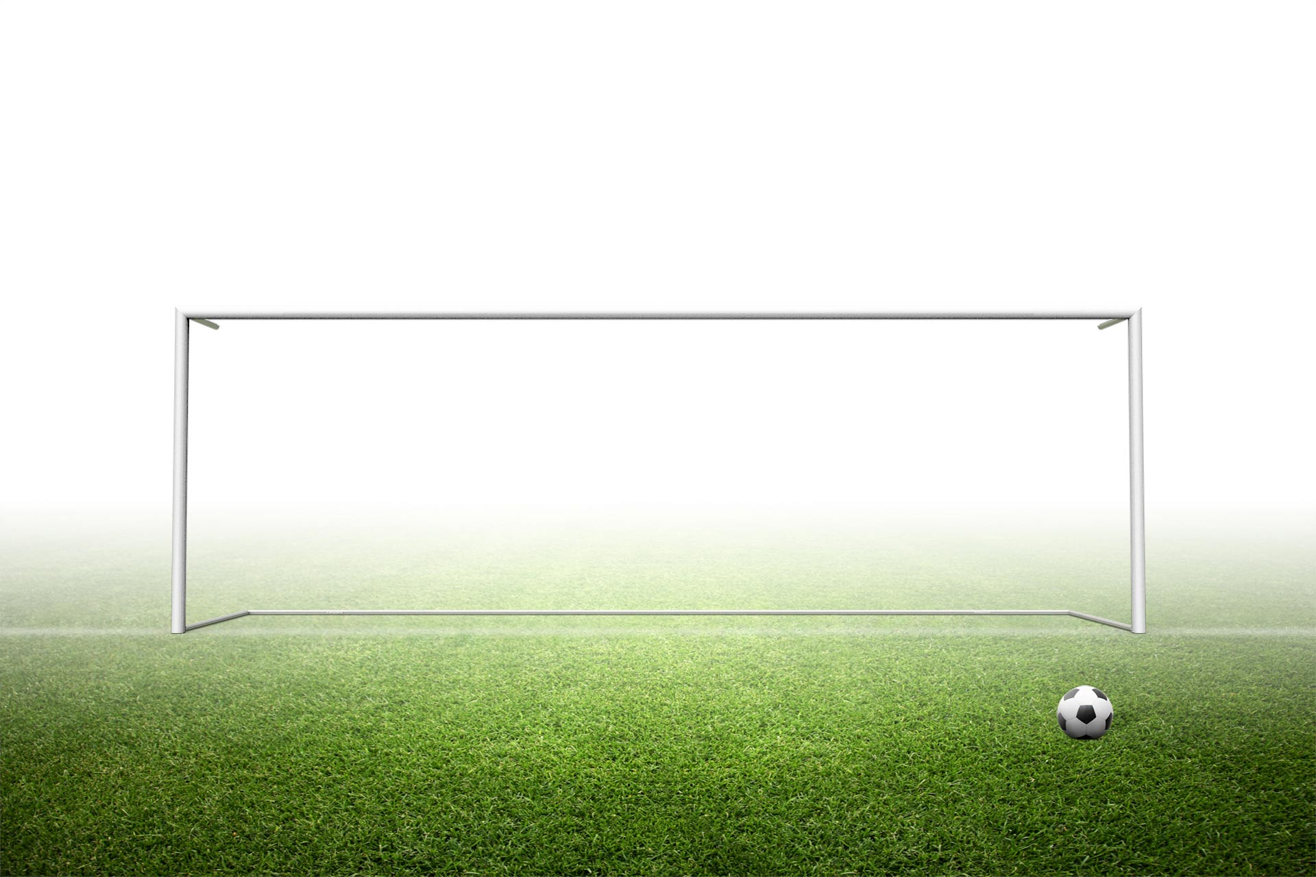 8'H x 24'W Stadium soccer goals in sleeves with net hanger construction