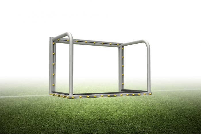 Portable mini soccer goal with PlayersProtect® 2.6'H x 3.9'W