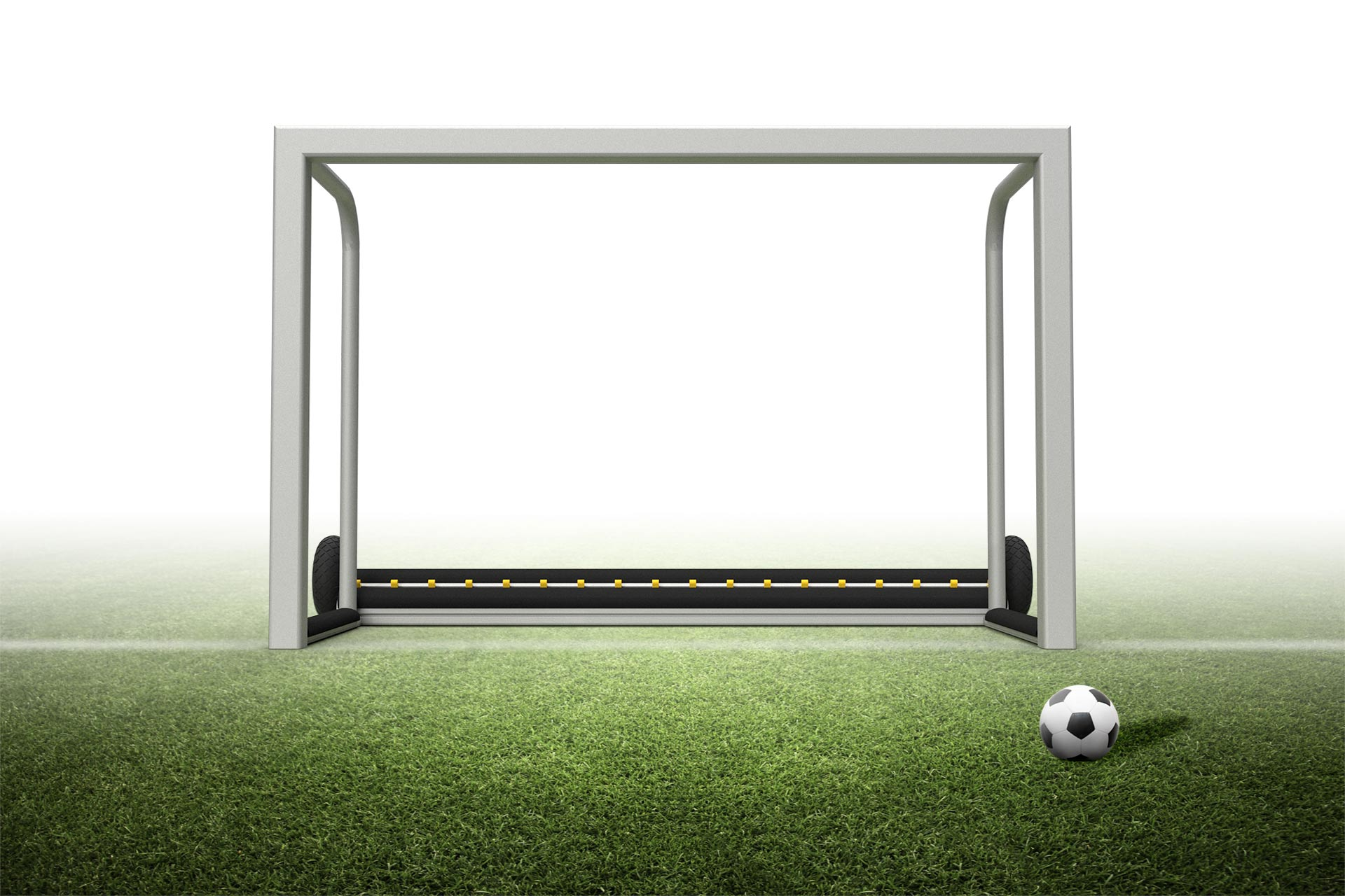 3.9'H x 5.9'W Portable Safety mini soccer goal with PlayersProtect®